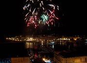 Fuochi d'artificio durante la Festa di santa Lucia