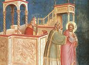 Dipinto di Giotto all'interno della Cappella degli Scrovegni