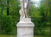 Il parco ducale con la statua di Arianna