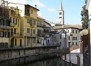Vista del campanile dal fiume