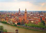 Il panorama della città