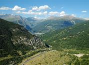 Veduta dall'alto delle alpi