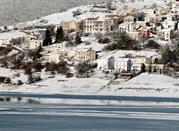 Vista panoramica di Campotosto, Gran sasso