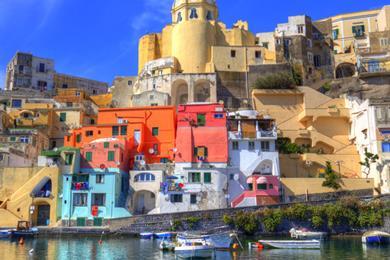 La caratteristica Procida, Napoli