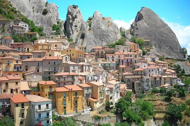 Veduta di Castelmezzano (Potenza)