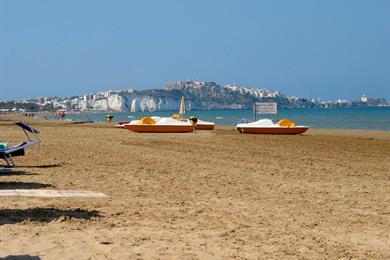 La spiaggia della località balneare