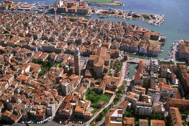 La città di Chioggia vista dall'alto