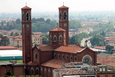 Il Duomo visto dalla cima della torre civica in piazza