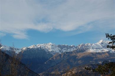 Dolomiti di Brenta riprese dalla Valle dei Laghi
