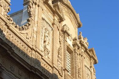 Faccia della chiesa di St.Agata in Gallipoli