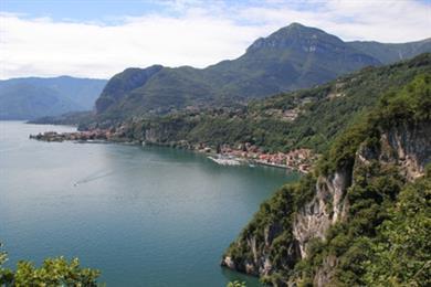 Sasso Rancio - Blick auf Nobiallo und Menaggio