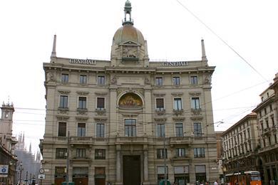 Piazzale Cordusio a Milano