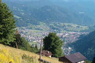 Panorama sull'alta Valle di Primiero