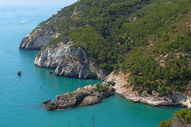 La costa vista dall'alto