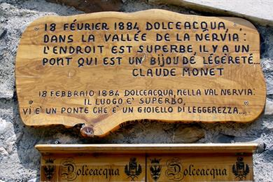 Targa commemorativa a Monet