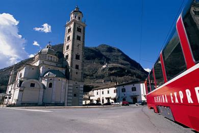 Il Trenino Rosso del Bernina - Tirano