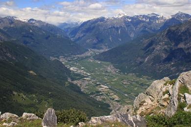 Blick nach Chiavenna