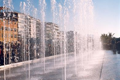 I getti d'acqua in città
