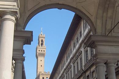Vista degli Uffizi e del Palazzo Vecchio