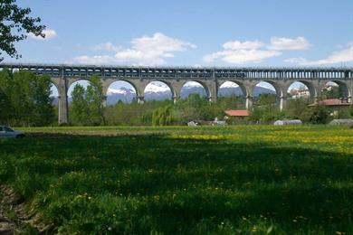 Viadotto Soleri, uno dei ponti di accesso alla città