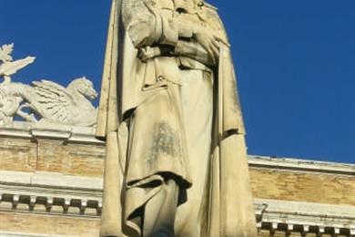 Statue von Giacomo Leopardi