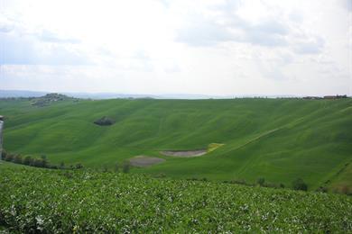 Vista dall'alto delle colline
