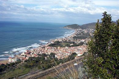 Panorama cilentano a S.Maria di Castellabate