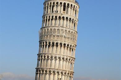 La torre pendente. Piazza dei Miracoli