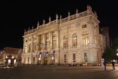 Il Palazzo Madama di notte
