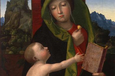 Francesco Morone, (Madonna col Bambino), Museo Canonicale