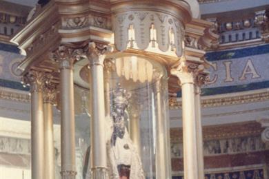L'altare della Madonna Nera