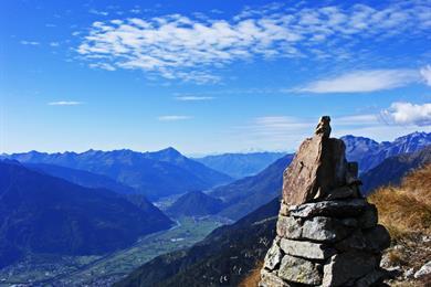 Vista dal monte Rolla