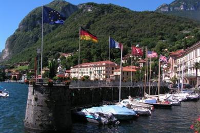 Der Bootshafen in Menaggio
