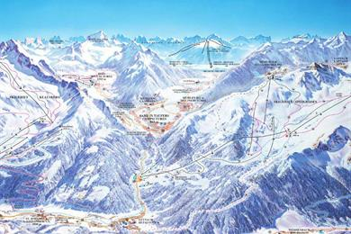 Skimap di Speikboden a Campo Tures