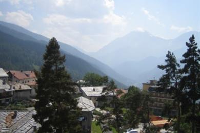 panorama dei balconi delle camere