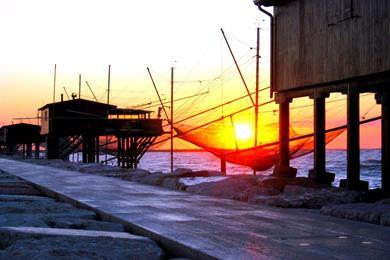 I pescherecci al tramonto
