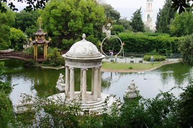 Il tempio a Diana nella Villa Durazzo-Pallavicini