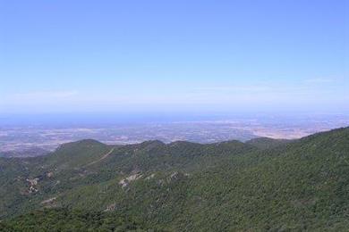 Il golfo di Oristano visto dal Monte Arci