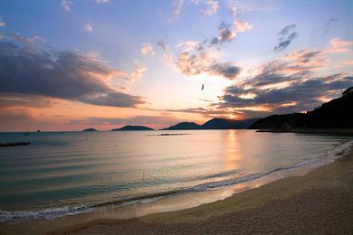 La stupenda spiaggia
