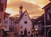 Sankt Ulrich, die ladinische Hauptort des Grödner Tales - Val Gardena