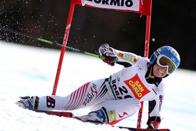 Una delle numerose gare di Coppa del Mondo di sci alpino a Bormio