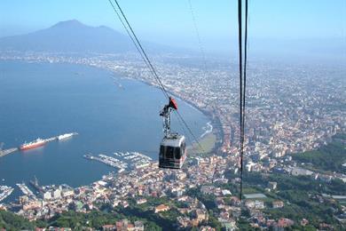 Vesuvius' Cable Car