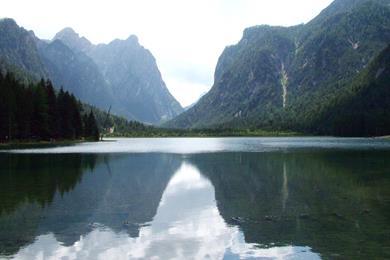 Il lago di Dobbiaco.
