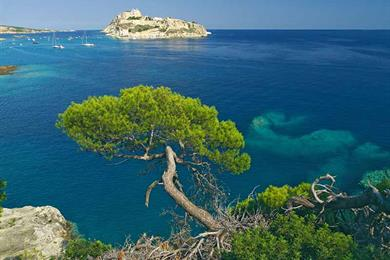 Vista magnifica delle Isole Tremiti